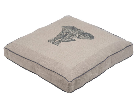 Jax & Bones Cotton Blend Square Pillow Dog Bed