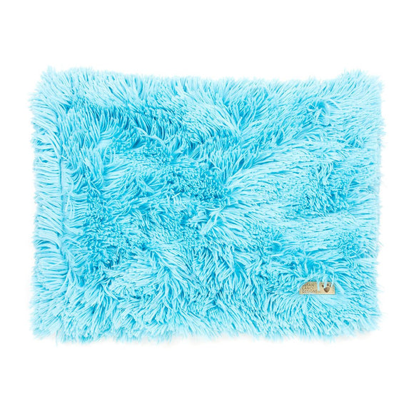 Aqua Shag Dog Blanket
