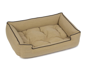 Jax & Bones Textured Linen Sleeper Dog Bed