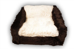 Chocolate & Cream Sofa Bed by Baylee Nasco