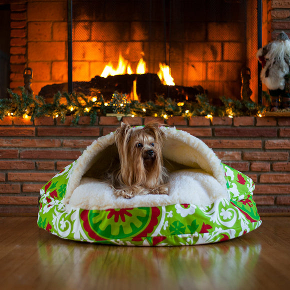 Snoozer Orthopedic Holiday Cozy Cave Dog Bed