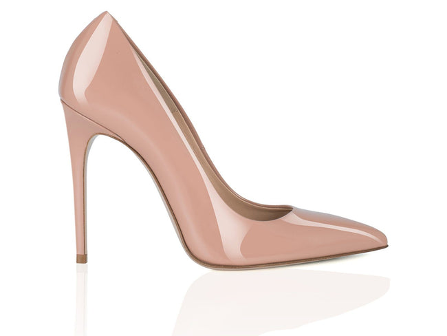 Nude Dark Patent Leather 100mm