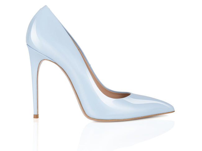 Ice Blue Patent Leather 100mm
