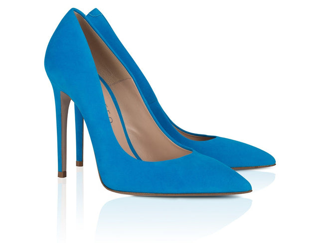 Sky Blue Suede Leather 100mm