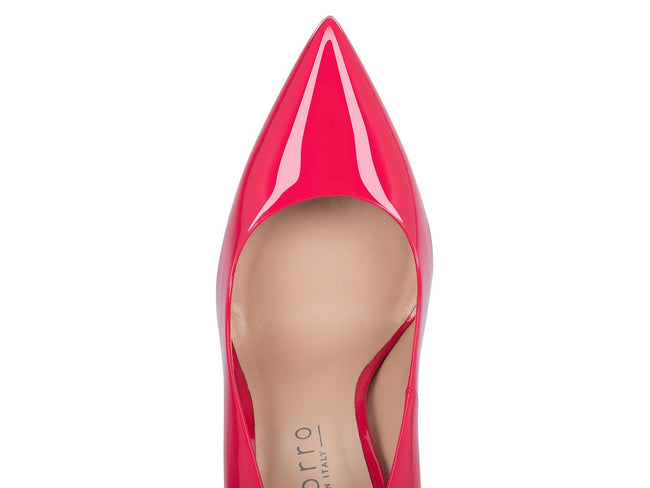 Coral Pink Patent Leather 100mm