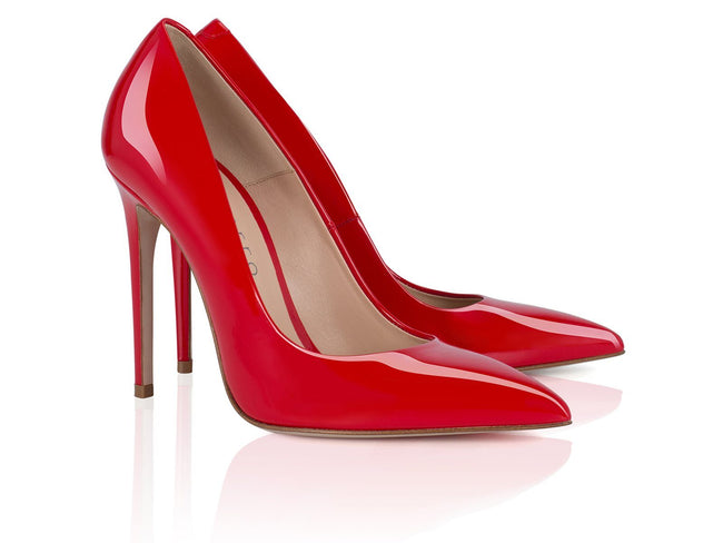 Red Patent Leather 100mm - Montorro Luxury Handmade Italian Shoes