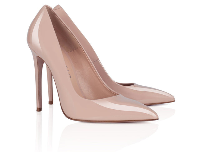Nude Patent Leather 100mm
