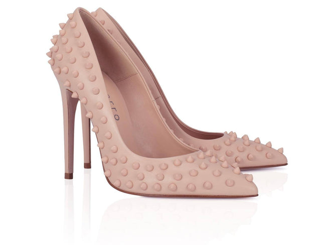 Nude Studded Calfskin 100mm