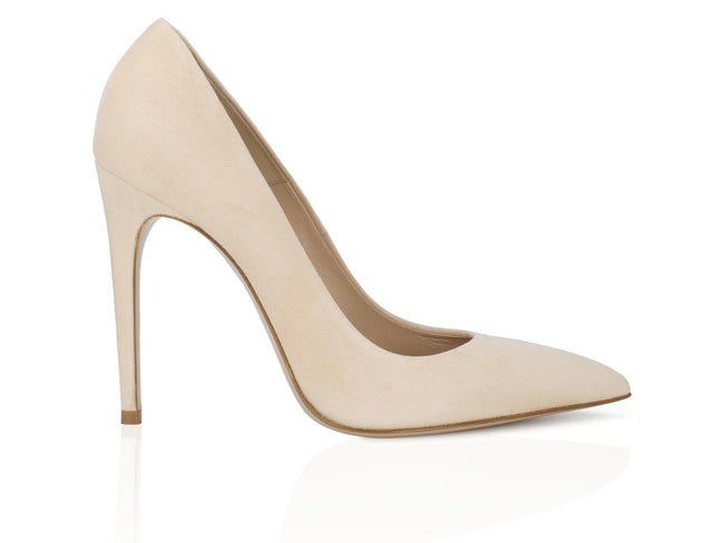 Nude Suede Leather 100mm