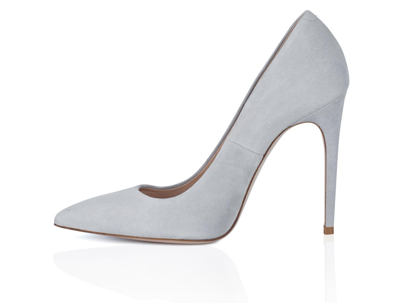women pumps in grey suede leather 100