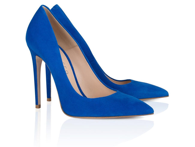 Blue Spirit Suede Leather 100mm - Montorro Luxury Handmade Italian Shoes