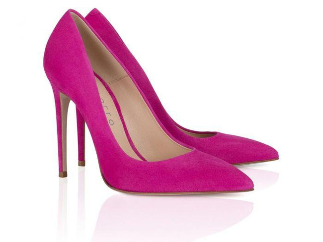 Purple Suede Leather 100mm - Montorro Luxury Handmade Italian Shoes