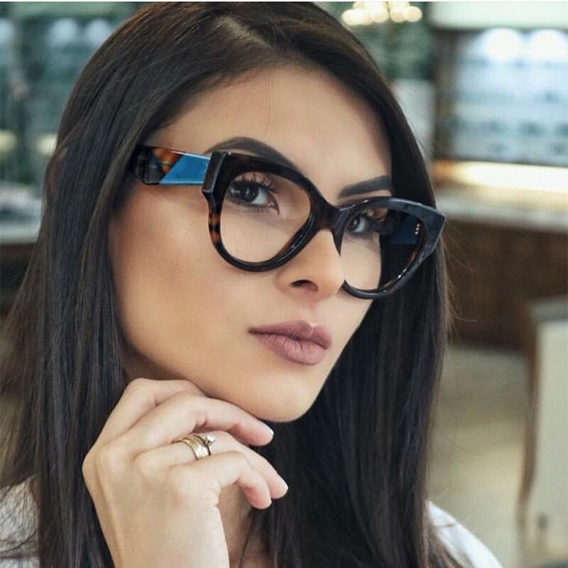 Female Cat Eye Glasses Spectacle Frame