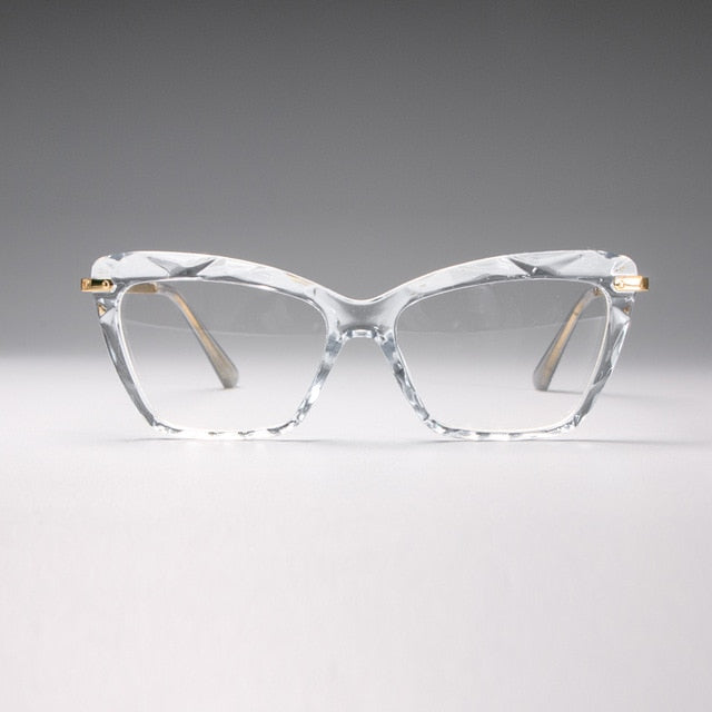 Women Fashion Rhinestone Style Square Glasses Frames