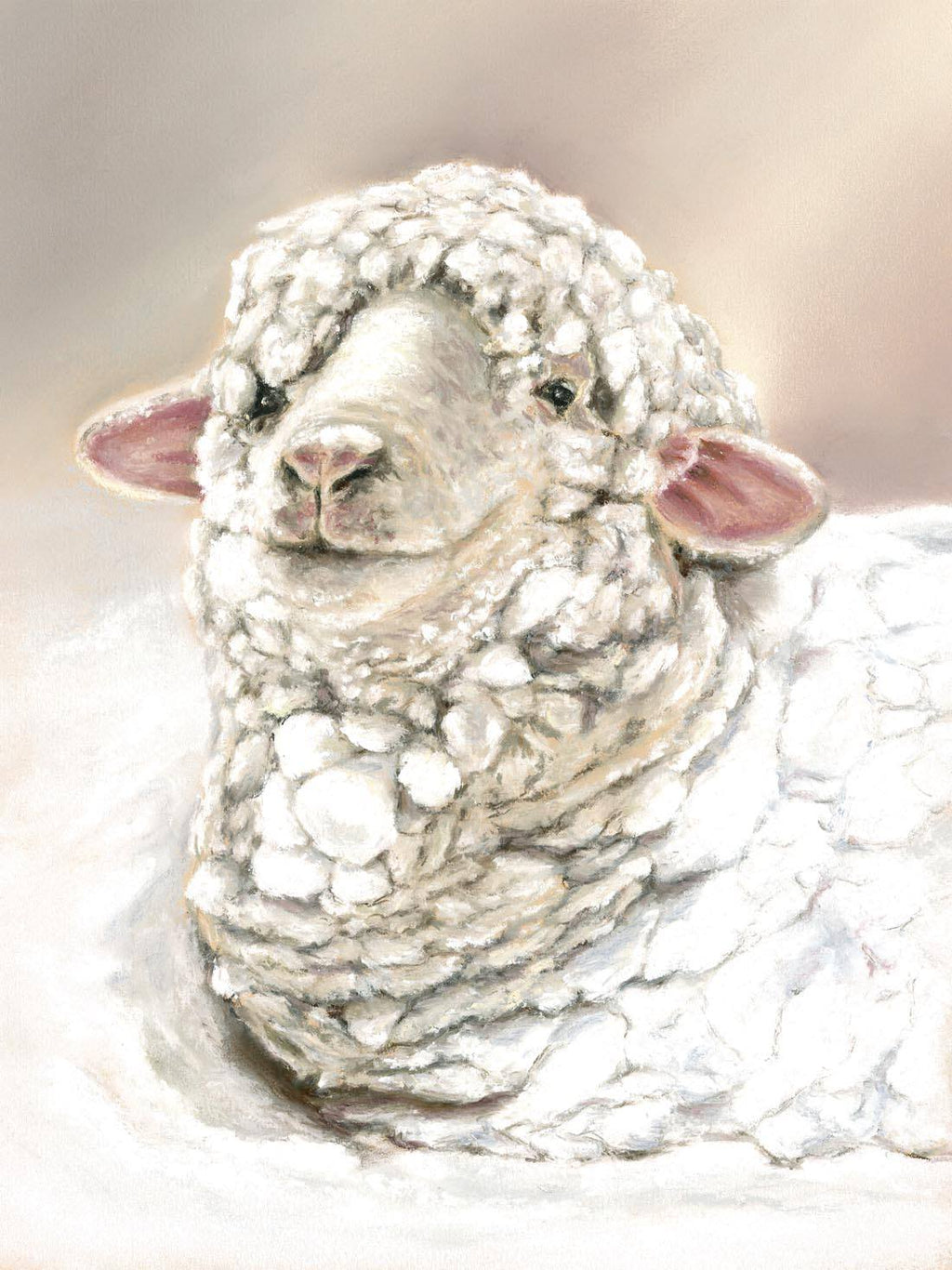 Just Chilling - Fine art giclee print - Chill, Christmas, Cold, Cute & Funny, Seasonal, Sheep, Snow, White, Winter