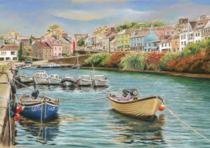 Roundstone, Co. Galway - Fine art giclee print - Boats, Coastal, Connemara, Fishing, Galway, Marine, Painting, Roundstone, Townscapes, Water, Waterscapes