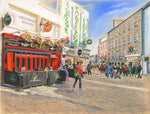 Sunlight on Shop Street - Fine art giclee print - Galway, Galway City, Pub, Pubs, Shop Street, Town