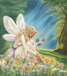 Guardian Angel Ariella - Fine art giclee print - Angel, Angels, Butterflies, Girl, Nature, Portrait, Spiritual, Woman