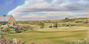 Bearna Golf Course - Fine art giclee print - Connemara, Galway, Golf, Ireland, Painting