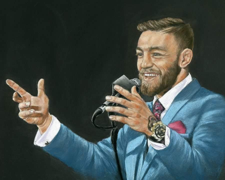 Conor - Fine art giclee print - Celebrity, Conor McGregor, Ireland, Irish, MMA, People, Sports, Sportsperson, UFC