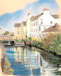 Canal View - Fine art giclee print - Canal, Dominic Street, Galway, Monroes, Water
