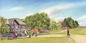 Oughterard Golf Club - Fine art giclee print - Galway, Golf, Landscape, Oughterard, Painting