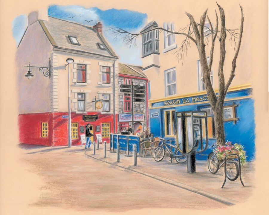 Ti Neachtains - Fine art giclee print - Galway, Galway City, Pub, Quay Street, Townscapes, Tí­ Neachtains