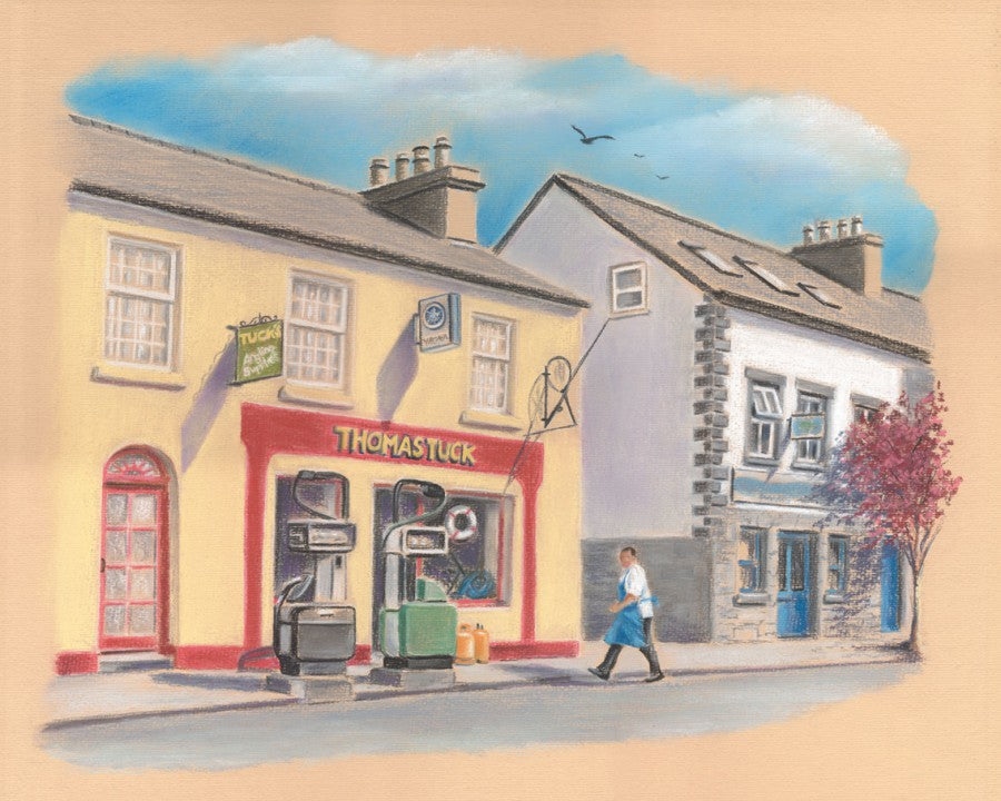Tuck's Tackle Shop - Fine art giclee print - Connemara, Galway, Oughterard, Townscapes