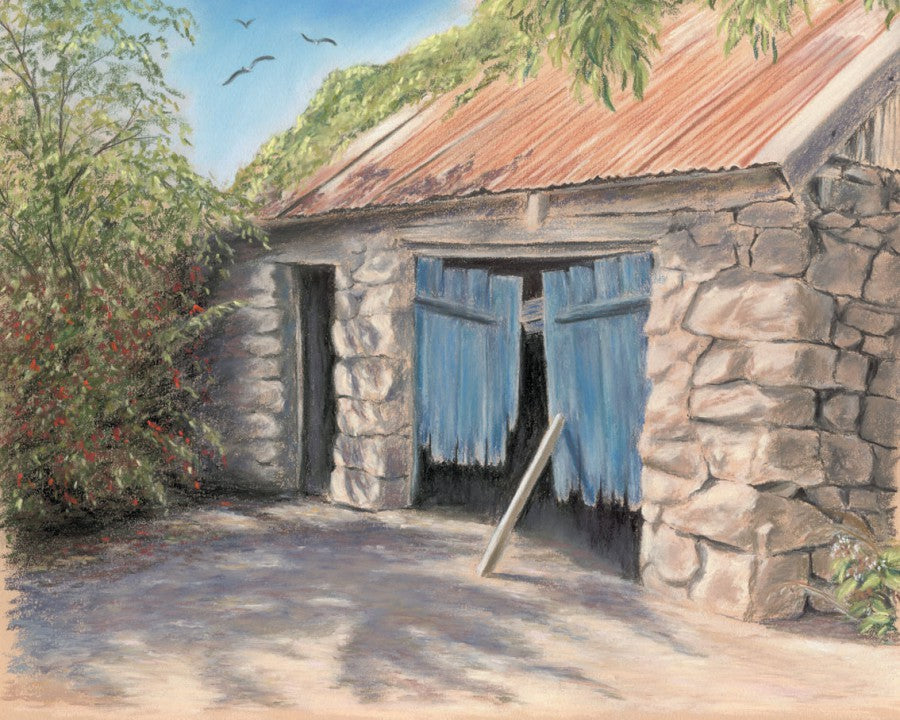 Old Turf Shed - Fine art giclee print - farm, Old, Outdoors, Outside, Rural, rustic, Shed