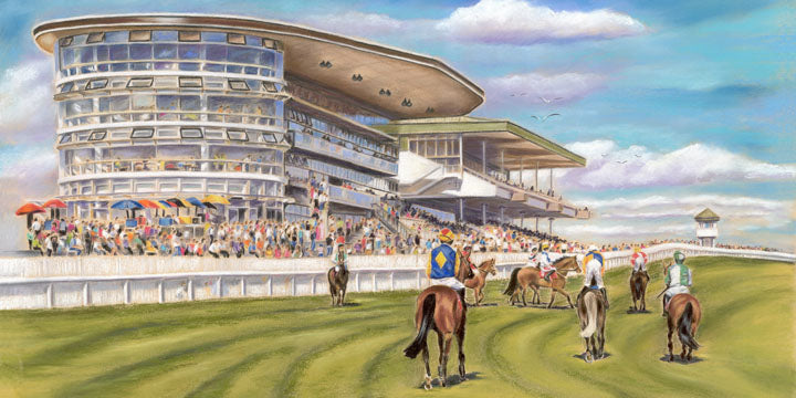 Winner Alright - Galway Races - Fine art giclee print - Galway, Galway Races, Horse, Horses, Painting, Races, Racing