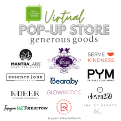 Generous Goods Virtual Pop-up to support Bring Change to Mind
