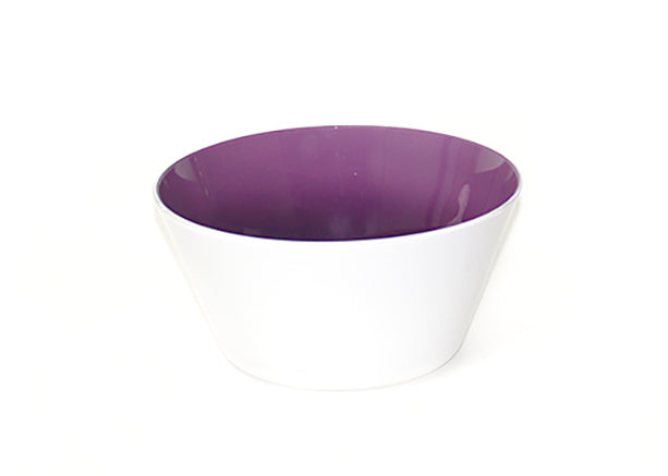 Amethyst glass bowl handblown in the USA from Serve Kindness