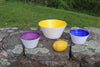 Yellow, Cobalt, Amethyst Set of Bowls
