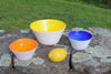 Yellow, Sunrise, Cobalt Set of Bowls