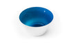 Aquamarine blue glass bowl handblown in the USA.