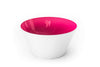 Ruby red glass bowl handblown in the USA.