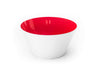 A Red handblown glass bowl. Made in the USA from Serve Kindness.