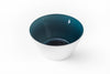 A steel blue handblown glass bowl. Made in the USA from Serve Kindness.