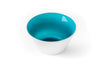 Teal blue glass bowl handmade in the USA