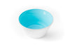 A turquoise blue handblown glass bowl. Made in the USA from Serve Kindness.