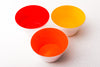 A bright orange (sunrise) handblown glass bowl. Made in the USA from Serve Kindness