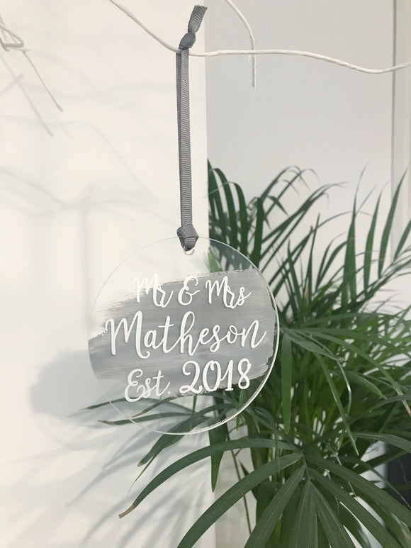 Personalised Grey & Silver Paint Splash