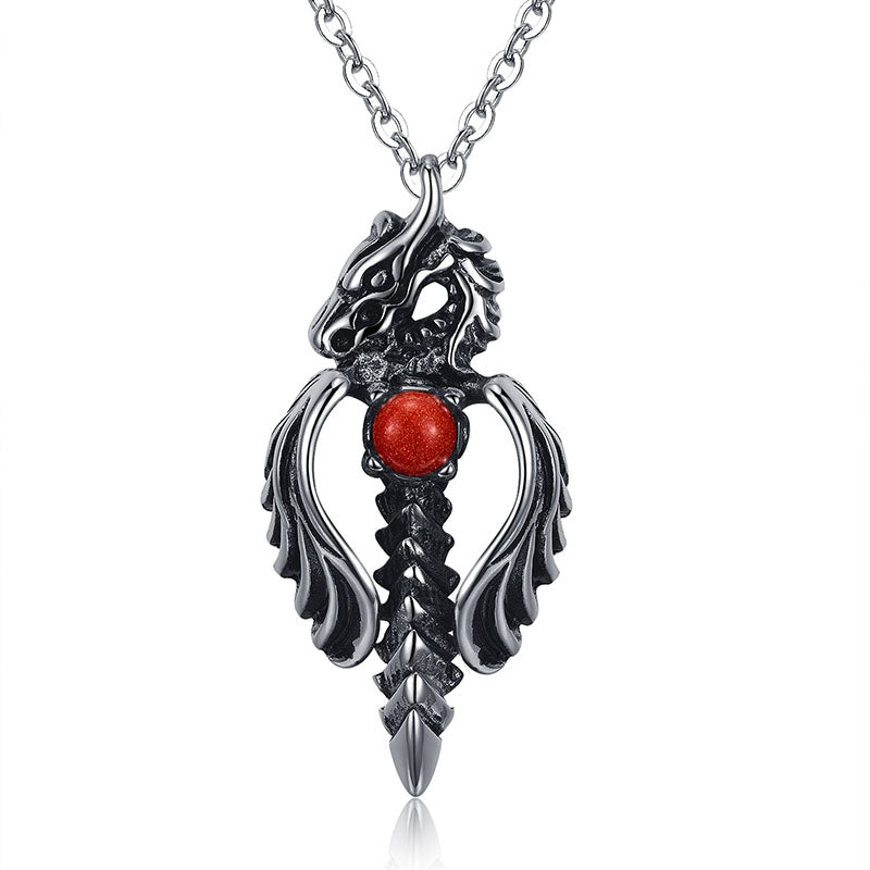 Dragon Sword Pendant Necklace - Streetwear Jewelry
