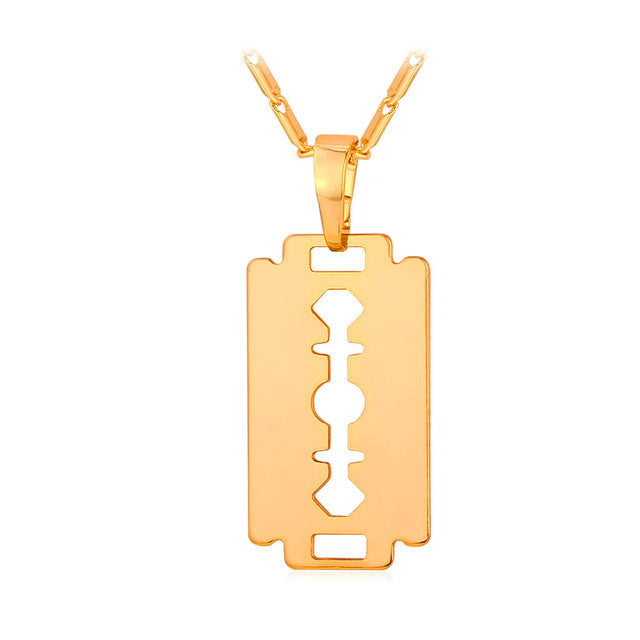 Razor Blade Pendant Necklace - Streetwear Jewelry