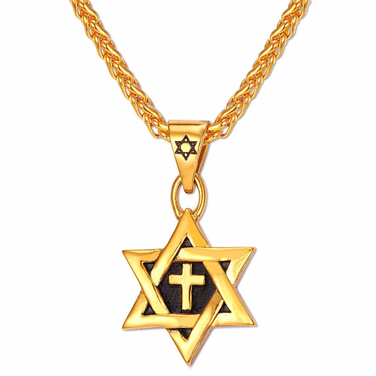 Star of David Cross Pendant & Necklace - Streetwear Jewelry