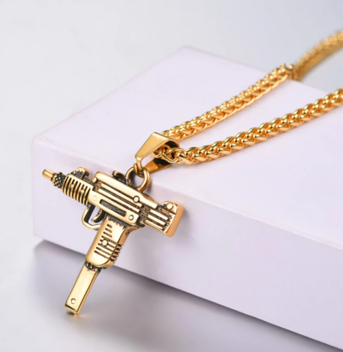 UZI GUN Pendant Necklace