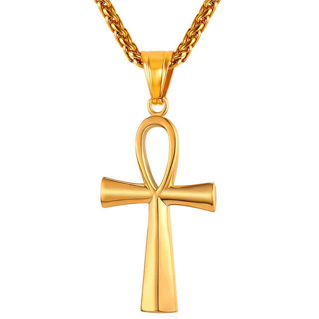Ankh Necklace Egyptian Cross Necklace Egyptian Sign Of Like Ankh Bling - Streetwear Jewelry
