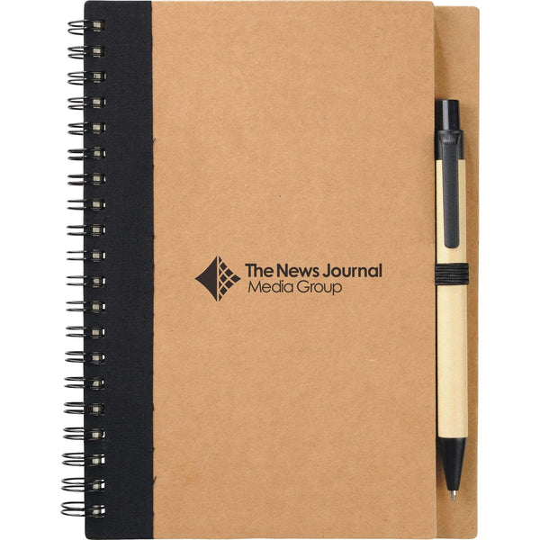 "150 piece minimum Accessories 5"" x 7"" Eco Spiral Notebook with Pen"