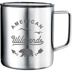 24 piece minimum Accessories 14oz / Silver Vacuum Insulated Camp Mug 14oz