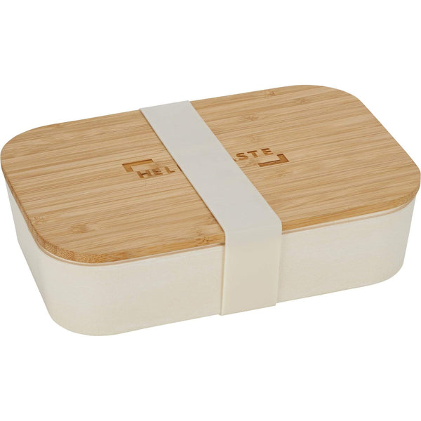 60 piece minimum Accessories One size / Beige Lunch Box with Bamboo Fiber Cutting Board Lid